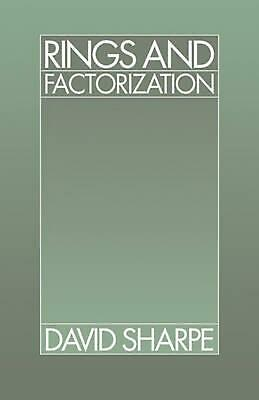 Rings and Factorization by David Sharpe (English) Paperback Book Free Shipping!