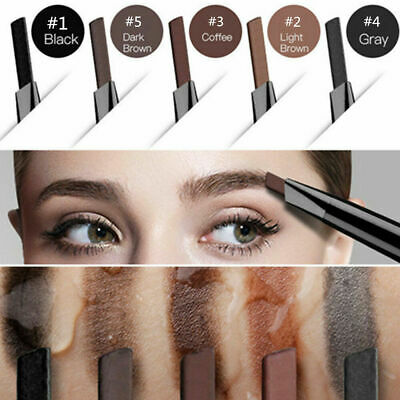 2in1 Waterproof Makeup Eye Brow Pen Eyebrow Liner Pencil & Brush Cosmetic