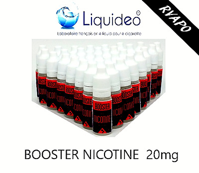 booster Nicotine Liquideo / 50/50 PGVG- 20mg LOT DE: 3/5/10/25/50