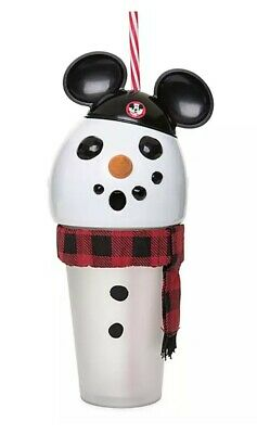 Disney Parks Exclusive Snowman Mousketeer Light up Tumbler. 2019