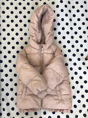 Girls NEXT Coral Pink padded winter coat. Age 3-4