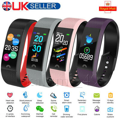 Fitness Smart Watch Activity Tracker Lady Kids Fit bit Android iOS Heart Rate UK
