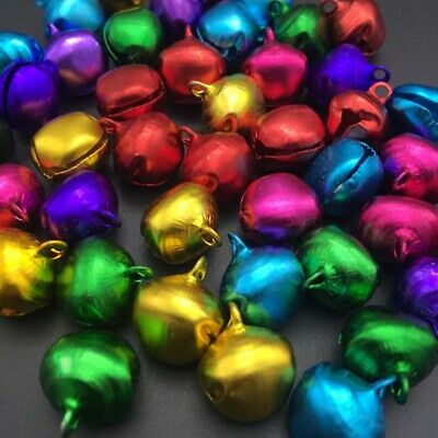 100pcs 10mm Jingle Bells Loose Beads Party Decoration Festival Xmas Tree Pendant