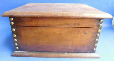 Beautiful Solid Edwardian Hardwood Desktop Box for papers letters Photos etc