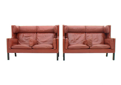 Borge Mogensen Coupe Leather Sofa Fredericia Denmark 1971 Lounge Leather Denmark