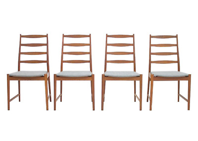 Set of 4 Torbjørn Afdal Teak Dining Chairs by Vamo Denmark 1960s Chairs Denmark
