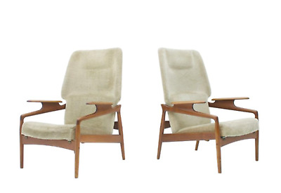 Pair(2) of Teak Lounge Chairs by John Bone Denmark 60s 60er Chair Denmark