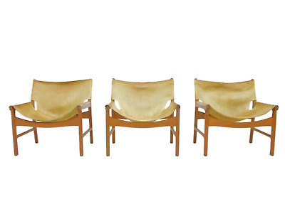 1 V 3 Lounge Chairs by Illum Wikkelso for Mikael Laursen Denmark 1972 Chair