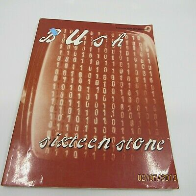 Vintage 1995 BUSH SIXTEEN STONE Authentic Guitar Tab Edition SHEET MUSIC Warner