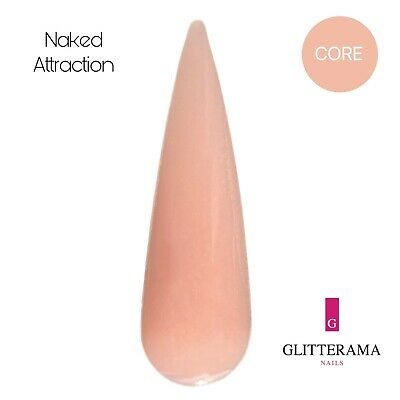 Nude coloured acrylic powder Glitterama Nails Naked attraction core