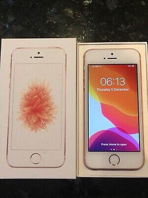 Apple iPhone SE 16GB Rose Gold Unlocked - Good Condition, In Original Box