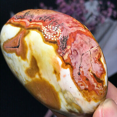 Top NATURAL POLISHED POLYCHROME JASPER From Madagascar 80g 60mm A10122