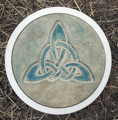 """Celtic stepping stone mold concrete plaster resin reusable mould 12"""" x 1.5"""""""