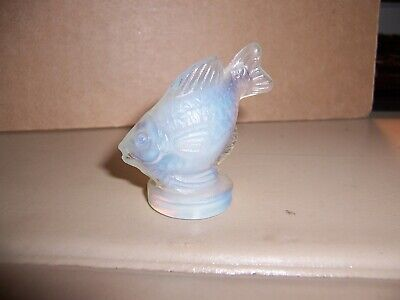 "Made In France French Art Glass ""Sabino""  Fish Miniature Figurine Opalescent"