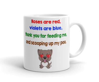 Dog Mug Birthday Christmas Valentines Gift Cute Pet Dog Puppy Perosnalised Cup