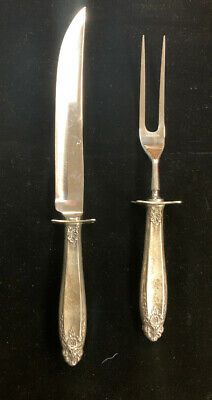 Prelude by International Sterling Silver 2 piece Carving Knife and Fork Set