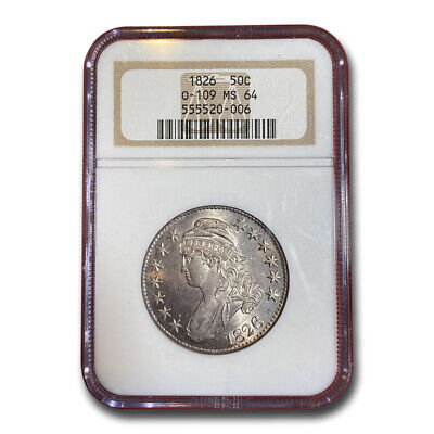 1826 Capped Bust Half Dollar MS-64 NGC (O-109) - SKU#204322