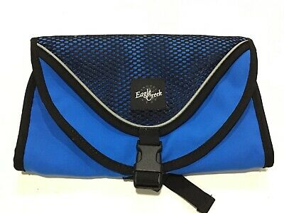 Eagle Creek Travel Hanging Toiletry Kit Blue 10 x 6 inches EUC
