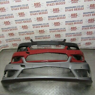 Mercedes C-Class W204 Saloon 2011-2014 Front Bumper Primed W// Washer No Pdc Amg