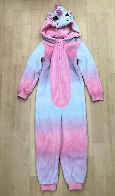 Unicorn Fleece One Piece Girls Age 6-7