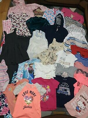 Huge Bundle Of Girls Clothes 6-7years #734 GEORGE NEXT M&S H&M HELLO KITT FROZEN