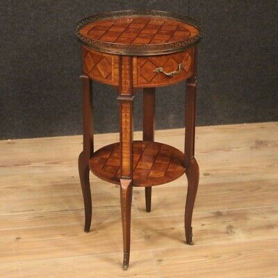 Small Table Furniture Bedside Wooden Inlaid Antique Style for Living Room 900