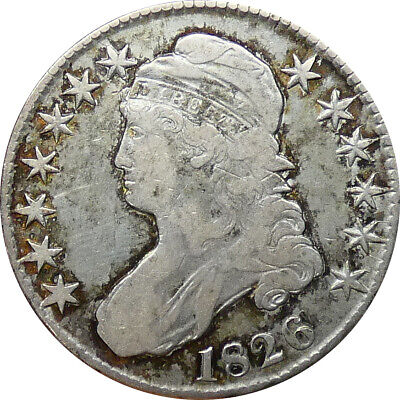 1826 Capped Bust Half Dollar VF Condition - bnp