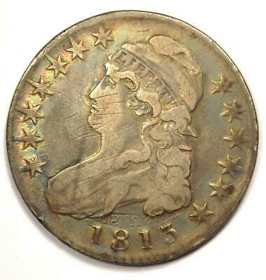 1813 Capped Bust Half Dollar 50C - Sharp Details - Rare Coin!