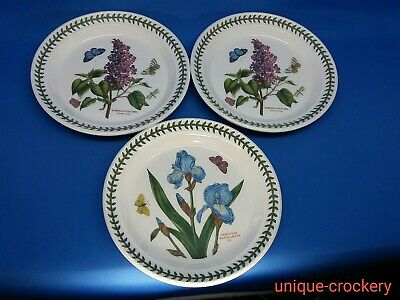 """3 x PORTMEIRION BOTANIC GARDEN Side Plates 21 cm (8.25"""") Approx see patterns"""