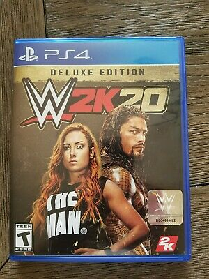 WWE 2K20 -- Deluxe Edition (Sony PlayStation 4, 2019) PS4
