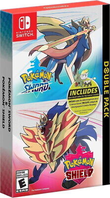 Pokemon Sword & Shield Double Pack w/ Dynamax Crystals [Nintendo Switch RPG] NEW