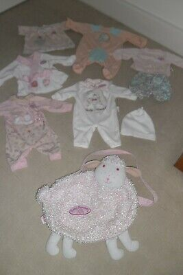 Bundle Pretty Baby Annabelle / Annabell Dolls Clothes & Changing Bag All Zapf