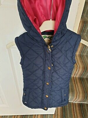 Excellent Condition Yd Navy Blue Hooded Gilet Age 7-8 Years