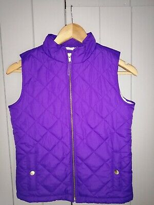 Gap Infant Girls Purple Quilted Gilet With Fluffy Lining