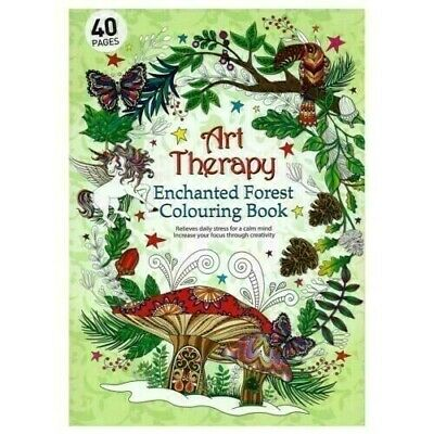 Art Therapy ENCHANTED FOREST Adult Colouring Book Creative Anti Stress - A4 Size