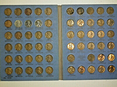 Lincoln Head Cent Book Number 2 1941-1962 Whitman Folder #9030 With 59 Coins
