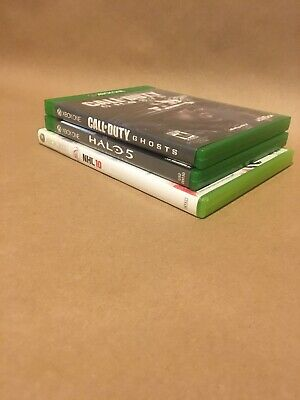 3 Xbox Video game lot Xbox One 360 Various Games COD Halo NHL