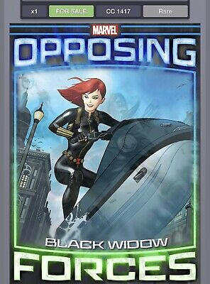 Topps Marvel Collect Opposing Forces Black Widow digital card