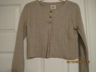 Boden cashmere girl's gold and beige cardigan 7-8years