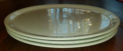 """Set of 3 Saturnia Napoli 12.25"""" White Pizza Plate Made in Italy"""