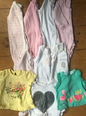 Small Bundle Baby Girls Clothes,Pepe & Co Next,Baby grows,All In Ones 0-3 Months