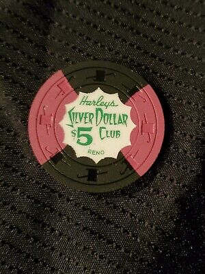 Harley's Silver Dollar Club $5.00 Casino Chip Reno Nevada Nv Only 3000 Made