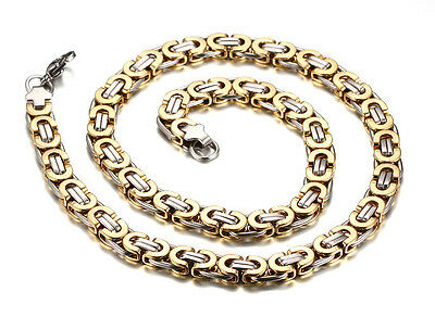 316L Stainless steel Byzantine chain Necklace Unisex Men  24'' 8mm Fashion Gifts