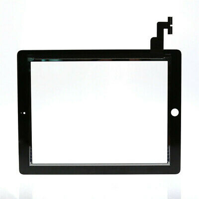 Front Panel Touch Screen Glass Digitizer Black + Home Button Assembly For iPad f
