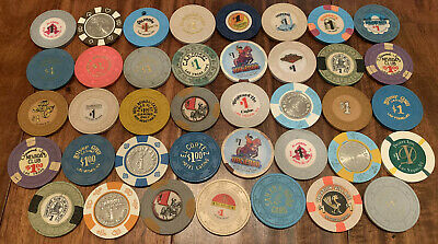 Lot of 39 $1 Las Vegas Casino Chips - Better Vintage Chips - Blowout Deal !!!!!!