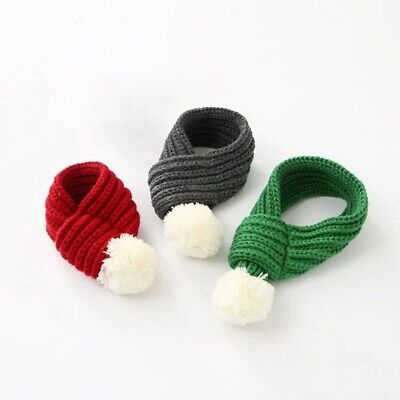 Pet Knitted Christmas Scarf for Cat Dog Pet Christmas Costume Collar Accessories