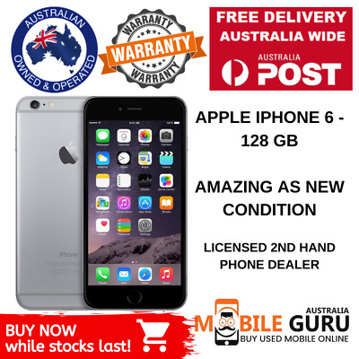 AS NEW iPhone 6 - 16GB 64GB 128GB - GENUINE AU Stock - Unlocked - Smart Phone