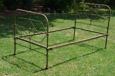 Authentic Victorian Cast Iron Bed Single