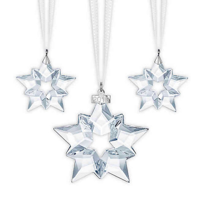 SET OF 3 Authentic Swarovski Crystal 2019 Annual Edition Christmas Ornaments