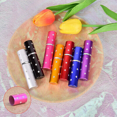 5ml Portable Perfume Bottle Travel Refillable Empty  Metal Spray Scent Pump CaTR